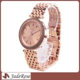 Heiße verkaufenqualitäts-Form-Entwurfs-Edelstahl-Armbanduhr für Dame