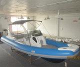 Bateau de touristes de famille d'usine de bateau de côte de coque de fibre de verre de Liya 25FT