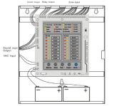 2 zonas convencionais do painel de alarme 16 do incêndio do fio