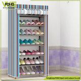 簡単なピンクの縞によって印刷されるカバー卸売の現代安い靴ラック