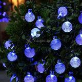 La energía solar en el exterior de las luces de la cadena de bola de cristal 20ft 30 Cadena de Planeta de luz LED Lámpara de Garland