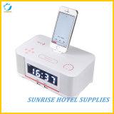Despertador da estação de embarcadouro de Bluetooth para o hotel