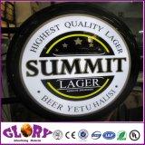 precio de fábrica de cerveza al aire libre de acrílico de la pared cuelgan Lightbox