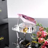 Красивейший выгравированный кристаллический рояль для благосклонности венчания & подарков дня рождения. Кристаллический подарки
