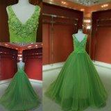 Изготовленные таким образом зеленый шарик платье партии Платье вечернее платье