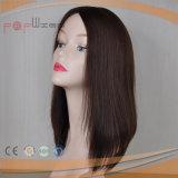 El cabello virgen brasileño plena mano atada encaje peluca (PPG-L-0055)
