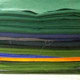 T24 Solid teñido de telas para uniformes de sarga de Poliéster 155 gsm