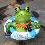 Полимер с плавающей запятой лягушка сад бассейн оформление
