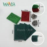 Paquet de combinaison de produits de nettoyage abrasif vert tampons à récurer décaper Pad