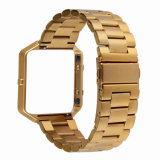 2018 Hoco Reloj de acero inoxidable correa de la banda de Fitbit Blaze Smart Watch Band