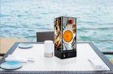 Cargador móvil del sostenedor del menú del LED con la batería 20000mAh y cuatro caras que hacen publicidad