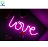 창조적인 벽 커튼 네온 밤 빛 LED 빛
