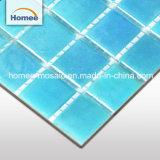 Color azul popular piscina mosaico de vidrio
