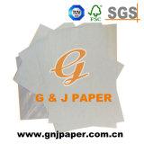 Alta Cor Branco brilhante papel vegetal para a produção de etiquetas de vestuário