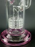 Rosafarbenes Glas/Glaswasser-Pfeife