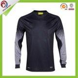 Design personnalisé gratuit bon marché à manches longues Body Shape Soccer Jersey Shirt