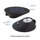 2W elliptisches Solarlicht 3 in 1 angeschaltenem 7 LED-im Freien wasserdichtem Landschaftsbewegungs-Fühler-Wand-Solarlicht