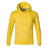 100% algodón de alta calidad de color sólido Draw-String Sudadera con capucha para hombres