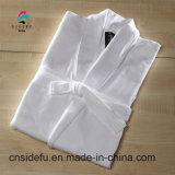 Accappatoio modale bianco dell'abito di preparazione del collare dello scialle dell'hotel