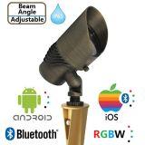 광속 각 조경 점화를 위한 IP65를 가진 조정가능한 RGBW Bluetooth 정원 스포트라이트
