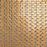 Goldblatt-Funkeln-Kristallspiegel-Mosaik-Fliese