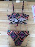 La impresión de flores Biquini colorido vibrante Colorblock Plus Size traje de baño Bikini
