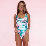 熱い販売の方法デジタルによって印刷される水着の女性の一つの水着