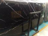 白い静脈が付いている価格の黒のNero安いMarquinaの大理石の平板