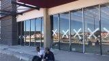 Portello di alluminio di stanza frontale di negozio della prova sana di alluminio di vetratura doppia di alta qualità