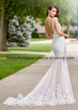 Платье венчания F28105 V-Back платьев шнурка Mermaid Bridal