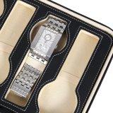 8スロット携帯用腕時計旅行ケースの記憶のオルガナイザーの黒