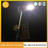 Tipo de pendurar as luzes da rua Solar com bateria na parte superior do mastro
