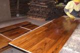 Madera de teca dorada aceitado natural diseñado el suelo de madera