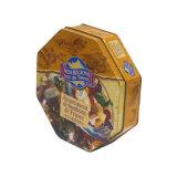Los envases metálicos octogonal de estaño de Chocolate