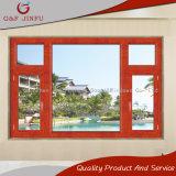 Eingesetzt Fertigung des Aluminiumflügelfenster-Fensters mit dem hölzernen Schauen