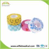 Selbstklebender medizinischer elastischer am meisten benutzter Verpackungs-Veterinärselbstklebriger Bindeverband