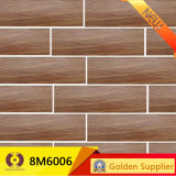 azulejo de madera de la pared del suelo de la baldosa cerámica de la mirada de los azulejos 3D (8M6009)