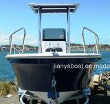 Barco China do Panga da pesca da fibra de vidro de Liya 8people com venda do motor