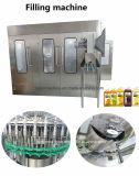 Maquinaria de engarrafamento de lavagem da embalagem da máquina de embalagem do capsulador do enchimento da bebida para o frasco de vidro de frasco do animal de estimação