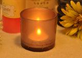 Imbarcazione di vetro della candela verniciata colore della perla