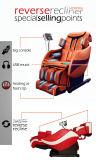 [هد] 8006 ذكيّة يشبع جسم مطبّ تدليك كرسي تثبيت مع [مب3] لون موسيقى عمل
