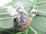 顧客用彫版パターン方法金および銀は販売のためのイヤリングをぶら下げる