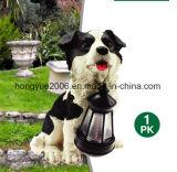 Nuevo Diseño Venta caliente resina Solar solar Luz decorativos para jardín lámpara perro
