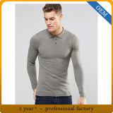 Chemises de polo grises de la longue chemise des hommes faits sur commande
