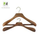 排他的な店のための製造業の贅沢なクルミの木製のハンガー