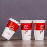 Kundenspezifisches Firmenzeichen-Wegwerfgebildetes Papiermilchshake kalte Getränk-Cup