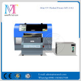 Buena pequeña impresora ULTRAVIOLETA del LED, impresora de Digitaces plana de la talla de la máquina A3 para cuaesquiera materiales duros, con cinco colores y la alta resolución