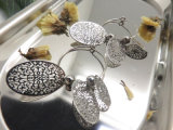 여자를 위한 타원형 원형 귀걸이가 형식에 의하여 보석 고전적인 디자인 기운다