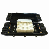 Encierro del empalme del cable óptico de fibra en línea 4 adentro y 4 del tipo de 144 memorias hacia fuera