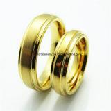 Joyería de la manera de los hombres del tungsteno del oro del laminado 18K del tungsteno (TSTG017)